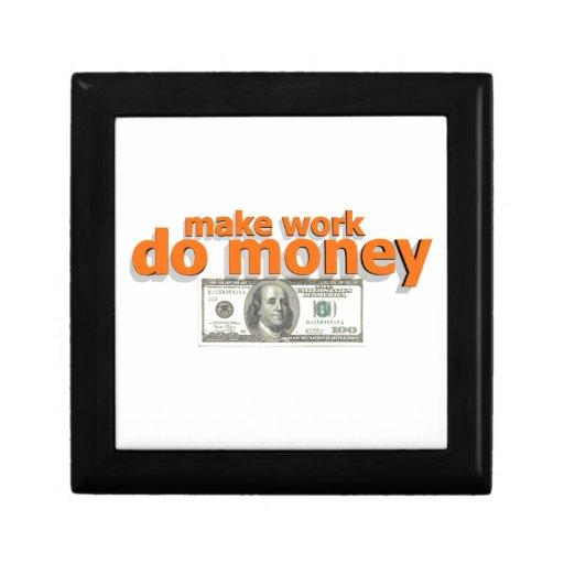 Haga que el trabajo hace el dinero cajas de joyas