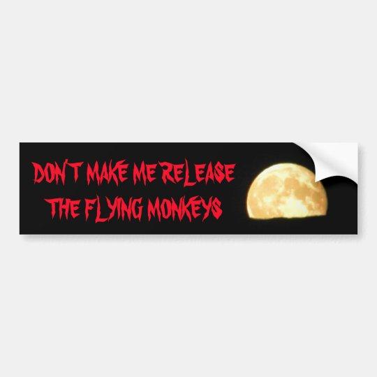 Haga que lanza los monos del vuelo con la luna pegatina para coche