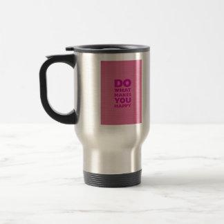 Haga qué le hacen el papel rosado feliz del taza térmica