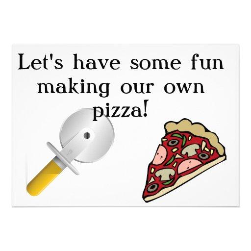 Haga que su propia pizza invita anuncio personalizado