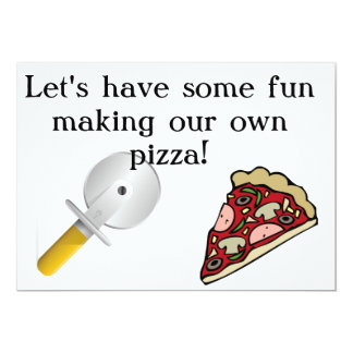 Haga que su propia pizza invita invitación 12,7 x 17,8 cm