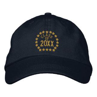 Haga su clase de sus estrellas del año bordadas gorra de beisbol bordada