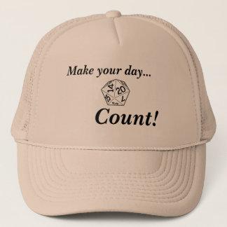 Haga su cuenta del día con d20 gorra de camionero