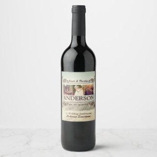 Haga su propia cadera el collage retro de los etiqueta para botella de vino