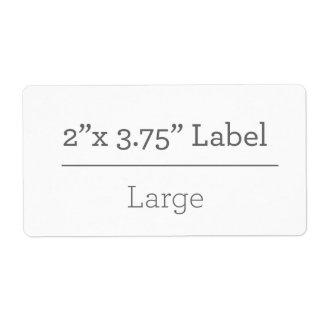 Haga su propia etiqueta 8,5 x 11