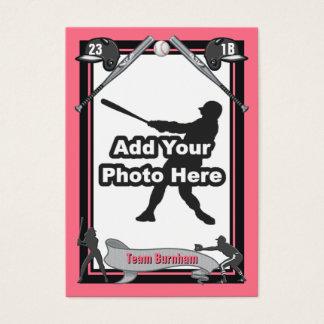 Haga su propia tarjeta de béisbol