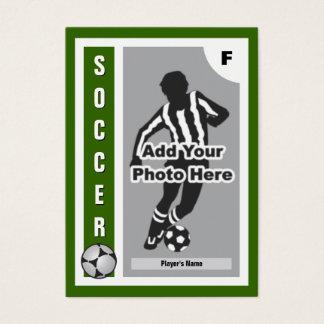 Haga su propia tarjeta del fútbol