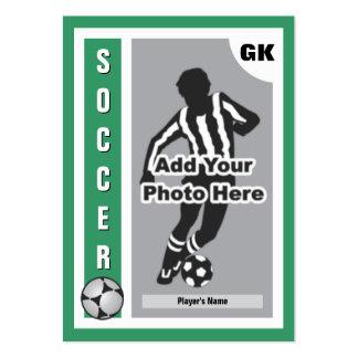 Haga su propia tarjeta del fútbol tarjetas de visita grandes