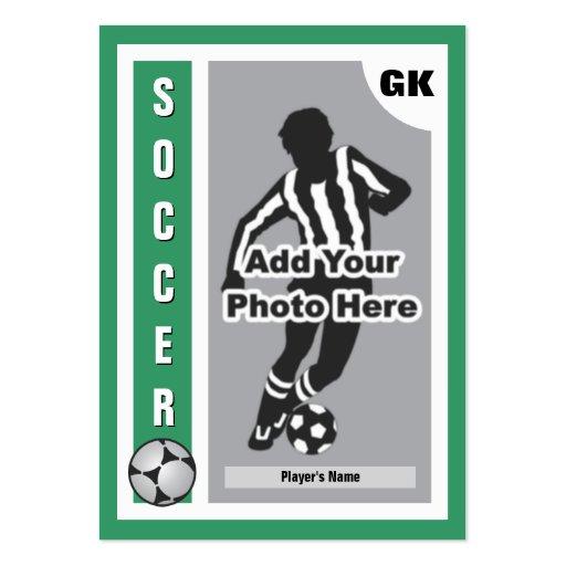 Haga su propia tarjeta del fútbol tarjeta de visita