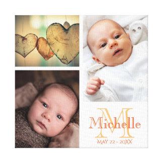 Haga su propio collage de la foto del bebé lienzo