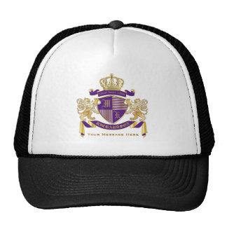 Haga su propio emblema de la corona del monograma gorros