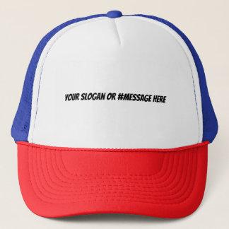 Haga su propio lema o gorra de Hashtag