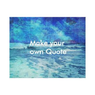 Haga su propio mar del océano de la playa de la lienzo