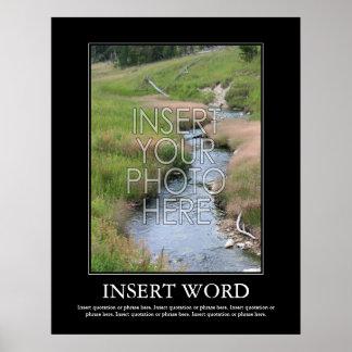 Haga su propio poster de motivación póster