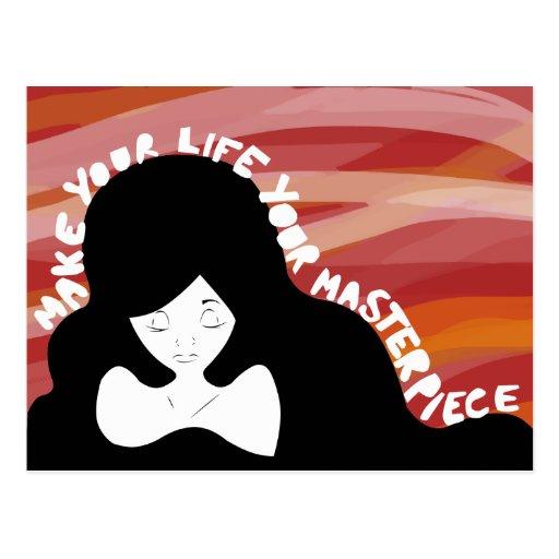 Haga su vida su postal de la obra maestra