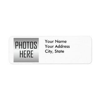 haga sus propias fotos del personalizado de las etiqueta de remitente