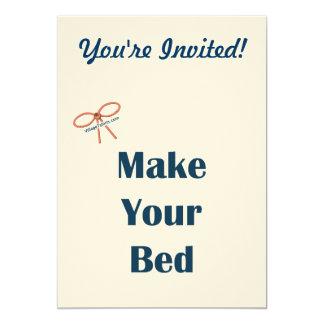 Haga sus recordatorios de la cama anuncio personalizado
