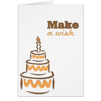 Haga un deseo tarjeta de felicitación