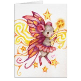 Haga un deseo - tarjeta del arte del ratón de la