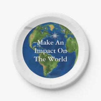 Haga un impacto plato de papel