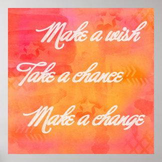 Haga un poster del arte del cambio