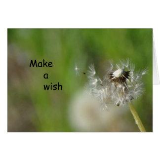 Haga una tarjeta de Frameable del deseo