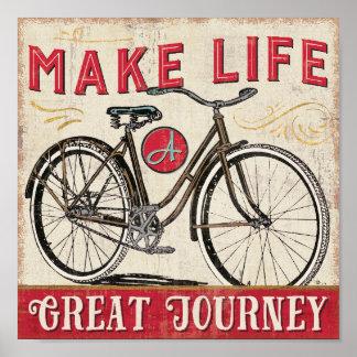 Haga vida una gran cita del viaje póster