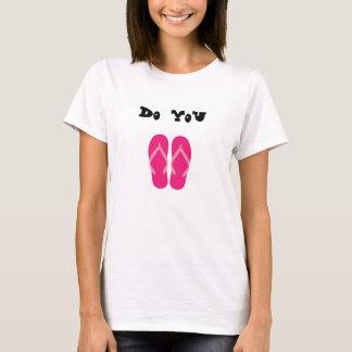 hágale camiseta del flip-flop
