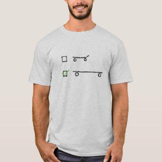 hágale incluso camiseta del longboard