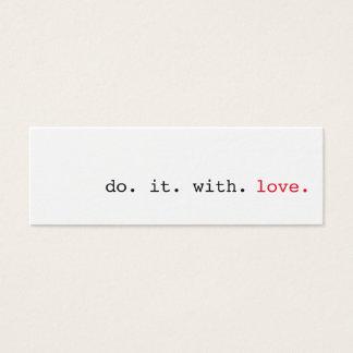 Hágalo con actos al azar del amor de las tarjetas
