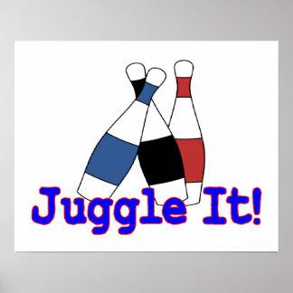 Hágalo juegos malabares juglar póster