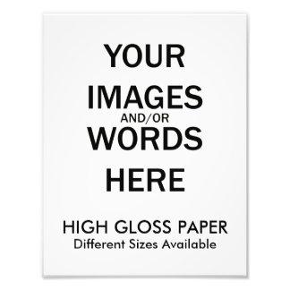 Hágalo usted mismo - ALTA impresión del LUSTRE Impresiones Fotograficas