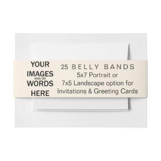 Hágalo usted mismo que -25 bandas del Belly para Cintas Para Invitaciones