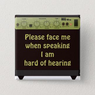 Hágame frente por favor botón del amperio