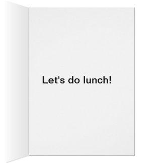 ¡Hagamos el almuerzo! El lagarto divertido hace un Felicitación