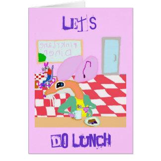 Hagamos el almuerzo tarjeta de felicitación