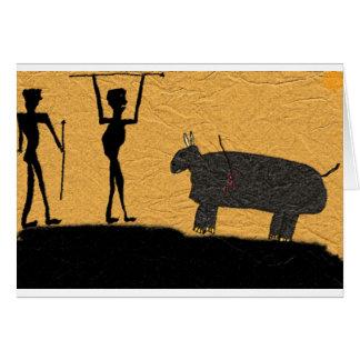 Hagamos el dibujo de la cueva del almuerzo tarjeta de felicitación
