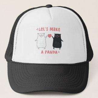 hagamos una panda gorra de camionero