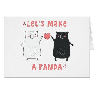 hagamos una panda tarjeta
