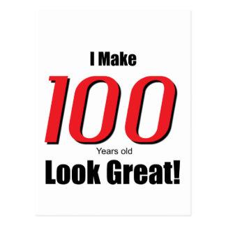 ¡Hago 100 años de la mirada grandes! Postal