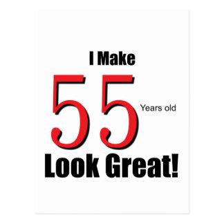 ¡Hago 55 años de mirada grandes! Postal