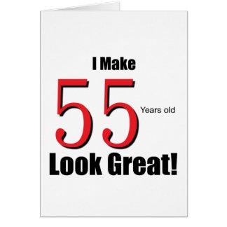 ¡Hago 55 años de mirada grandes! Tarjeta De Felicitación