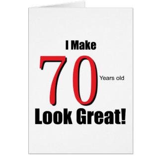 ¡Hago 70 años de la mirada grandes! Tarjeta De Felicitación