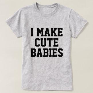 Hago a bebés lindos camisetas