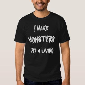 Hago a los monstruos para una vida camiseta