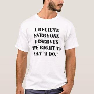 """""""Hago."""" Camiseta de la igualdad de la boda"""