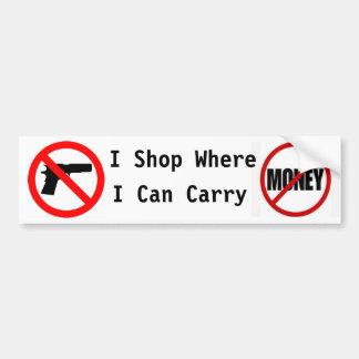 Hago compras donde puedo llevar… pegatina para coche