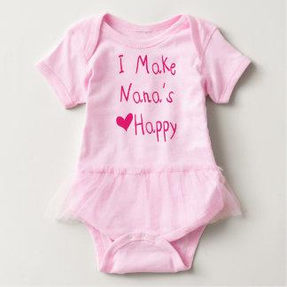 Hago el corazón de Nana el mono feliz del tutú del Body Para Bebé