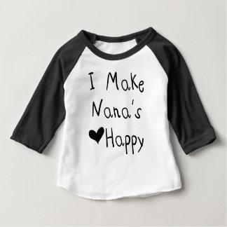 Hago el corazón de Nana la camiseta feliz (el