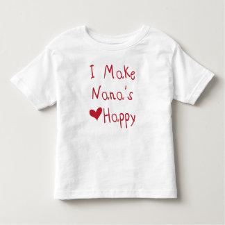 Hago el corazón de Nana la camiseta feliz (roja)
